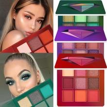 9 Kleuren Glitter Oogschaduw Make-Up Palet Matte Oogschaduw Palet Shimmer En Glans Diamant Oogschaduw Poeder Pigment Cosmetica