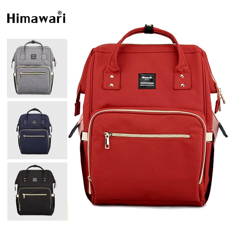 Himawari classique sac à couches mode femmes voyage sacs à dos ordinateur portable plus grande capacité momie maternité Nappy sac Bolsa Maternidade