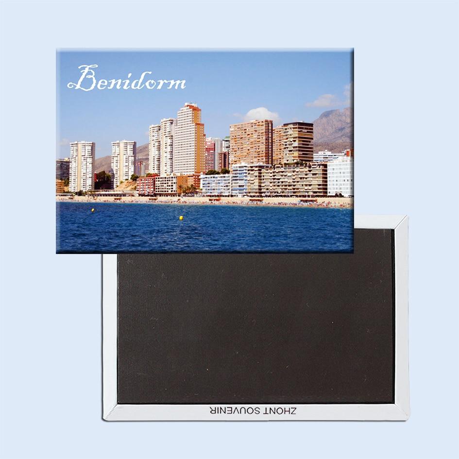 Benidorm-aimant de réfrigérateur en espagne orientale, sur la côte méditerranéenne, cadeau touristique pour vacances 21656