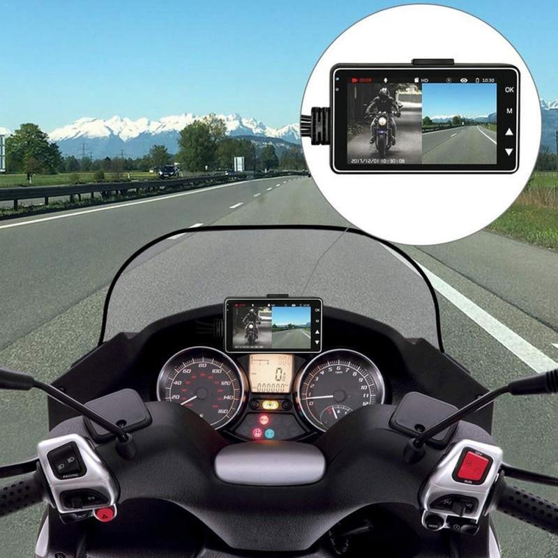 Caméra pour moto caméra DVR   Caméra avec enregistreur avant arrière spécialisé à double voie