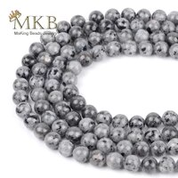 natural stone black labradorite round beads for jewelry making 4 6 8 10 12mm spacer beads diy bracelet accessories wholesale