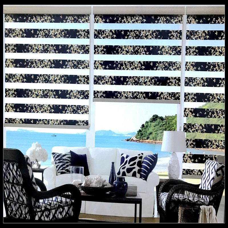 FREE SHIPPING Popular zebra blinds double-layer roller Zebra blinds and zebra  window blinds