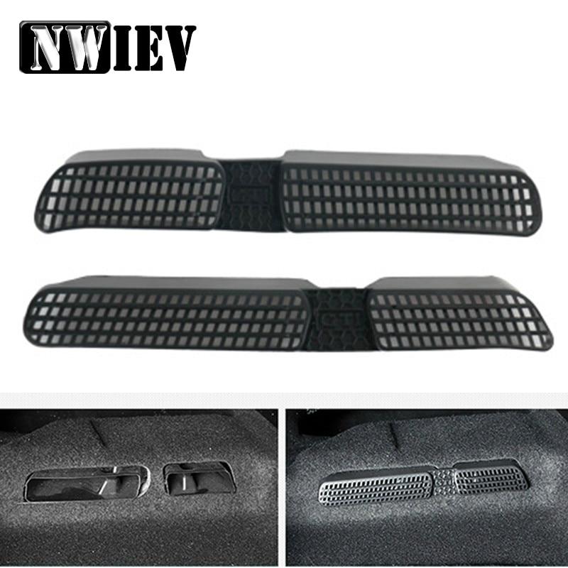 EWIEV 2 uds asiento de coche aire acondicionado cubierta protectora de salida de aire pegatina para 2016 2017 2018 vw tiguan mk2 allspace/touran mk2