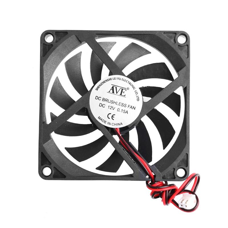 Ventilador enfriador de 12V para PC de 2 pines 80x80x10mm, sistema de CPU, disipador térmico, ventilador de refrigeración sin escobillas 8010