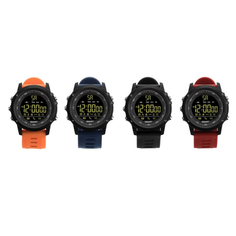 EX17 Smart Watch Sport Pedometer 50m Depth Waterproof SmartWatch Message Reminder Alarm Wearable Devices For iOS Android
