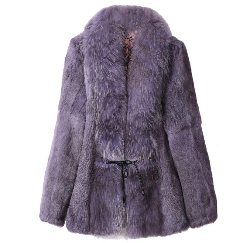 Женское меховое пальто с большим воротником из меха енота, пальто с натуральным мехом на осень и зиму