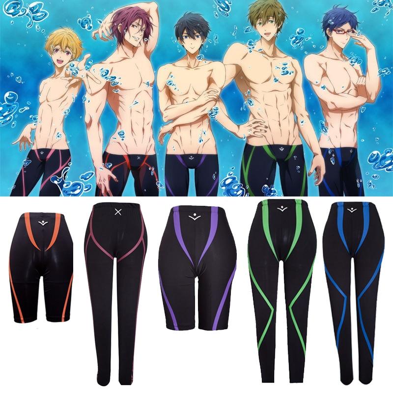 Hot Anime Gratis! Iwatobi Swim Club Zwembroek Shorts Cosplay Kostuum Nagisa Hazuki Makoto Tachibana Rin Matsuoka Swim Broek