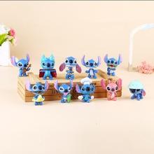 10pcs 5cm Stitch Doll Toy Stich Q Scrump Kawaii Action Figures Juguetes Mini Decor Landscape Lilo Doll Collection Toy Best Gift