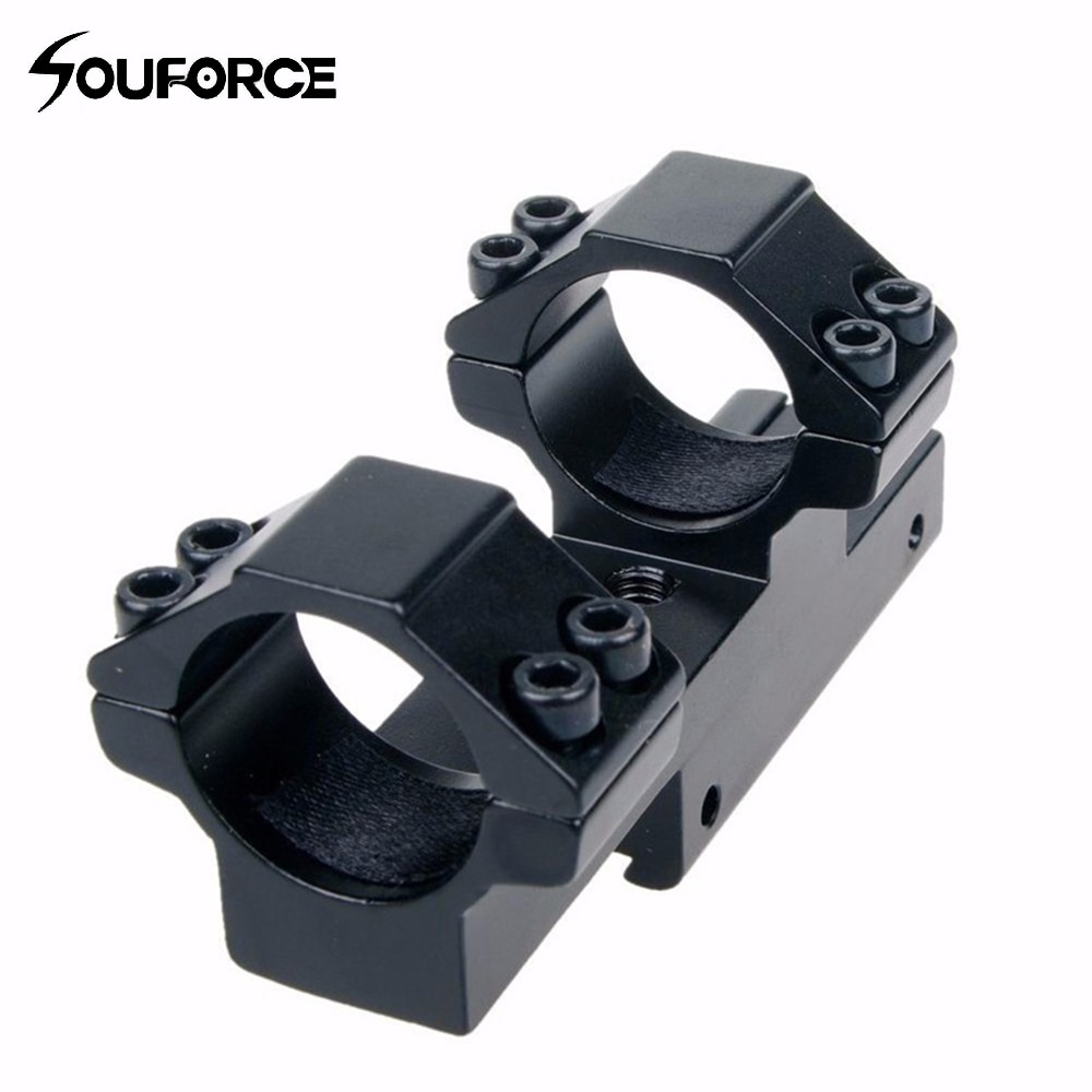 Montaje en anillo de 25,4mm/montaje en cola de milano 30mm de 11mm riel Weaver apto para Rifle/mira caza envío gratis