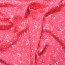 145x100cm Imported Red Floral Print Soft Chiffon Fabric for Women beach Dress,Shirts Sewing Patchwor