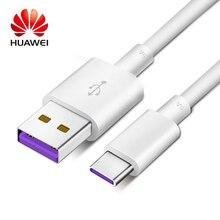 Câble dorigine Huawei Supercharge type-c Mate 9 10 20 Pro P10 Plus P20 Pro Honor V10 5A chargeur rapide Charge USB 3.0 Type C