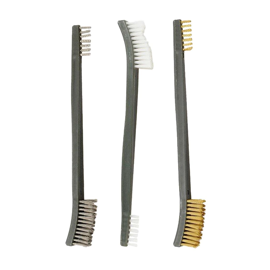 Offre spéciale 3 pièces/ensemble 17cm acier/Nylon/laiton brosse adapté au nettoyage peinture/rouille/saleté