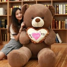1 pièce I Love You ours en peluche grande peluche jouet tenant amour coeur doux cadeau pour saint valentin anniversaire filles noël Brinquedos