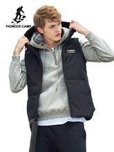 Pioneer Camp automne hiver gilet pour hommes marque vêtements sans manches veste mâle qualité à capuche coton rembourré gilet AMF705168