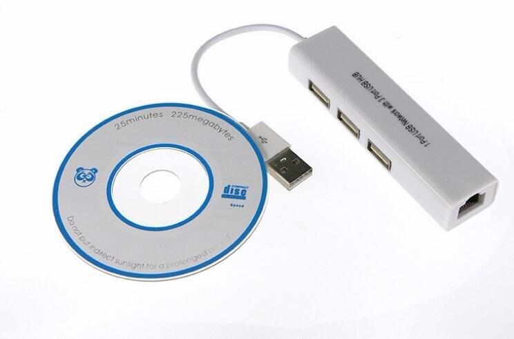 Micro usb para rede lan adaptador ethernet rj45 com 3 portas usb 2.0 hub adaptador para android comprimidos rd9700 ic