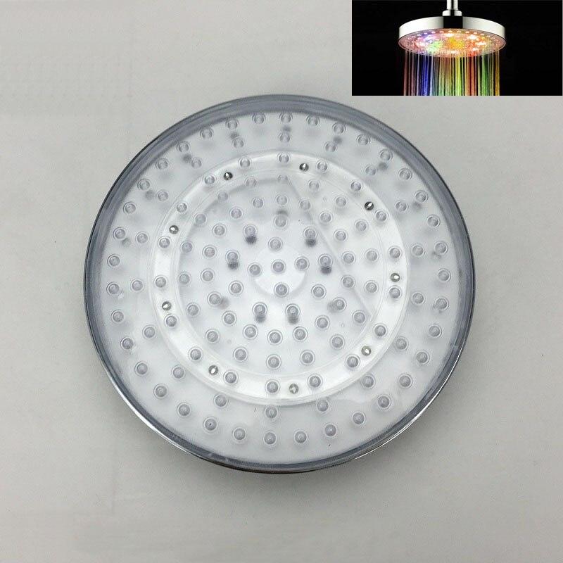 Горячая продажа! Новейший 8-дюймовый круглый светодиодный душ с дождевой насадкой, 7 цветов, автоматическое изменение или 3 цвета, изменение ...