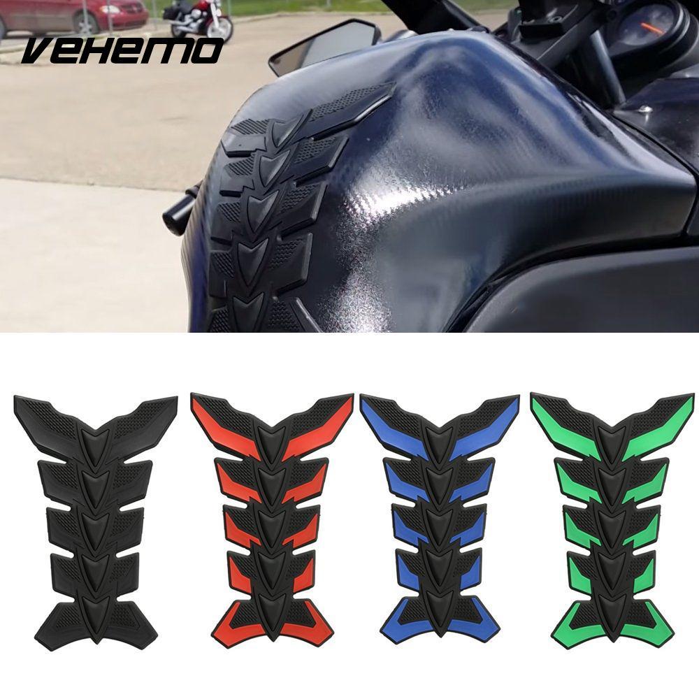 1 шт., углеродное волокно, 3D коврик для мотоцикла, бак с защитой от царапин, масляный газовый предохранитель, наклейка для Honda, kawasaki, yamaha, suzuki