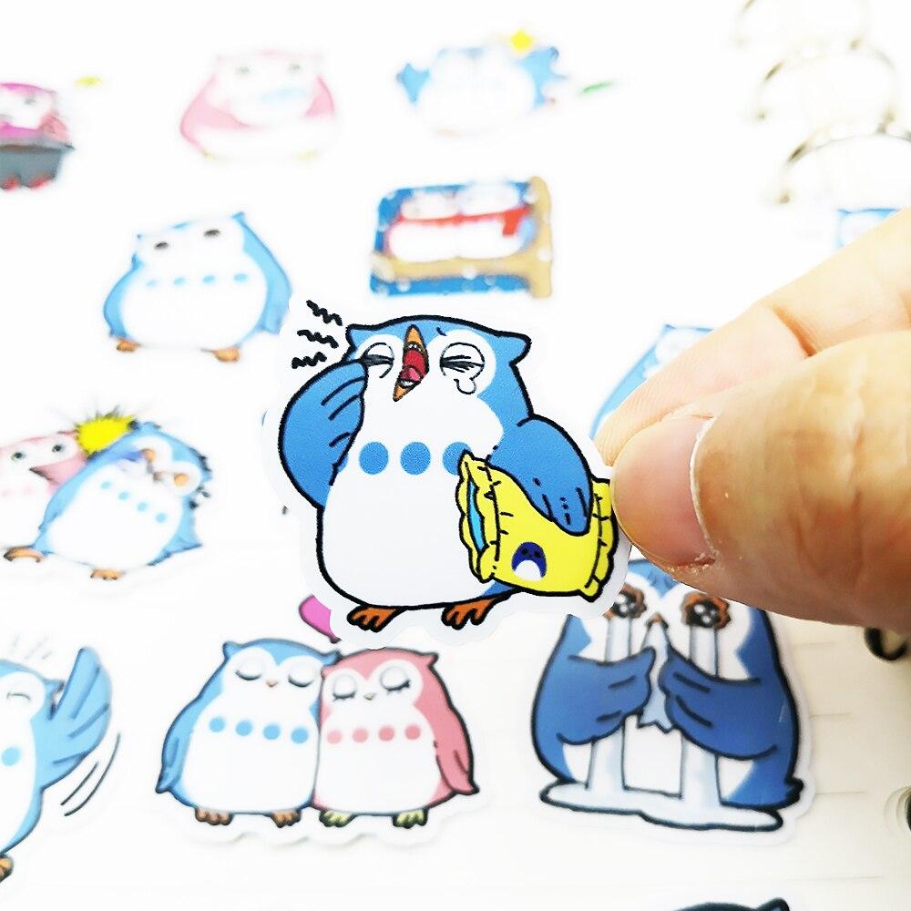 20/40pcs Self-adhesive Cute Owl DIY Craft Stickers Clip Art Photo Album Decoration Diary Random Not Repeat