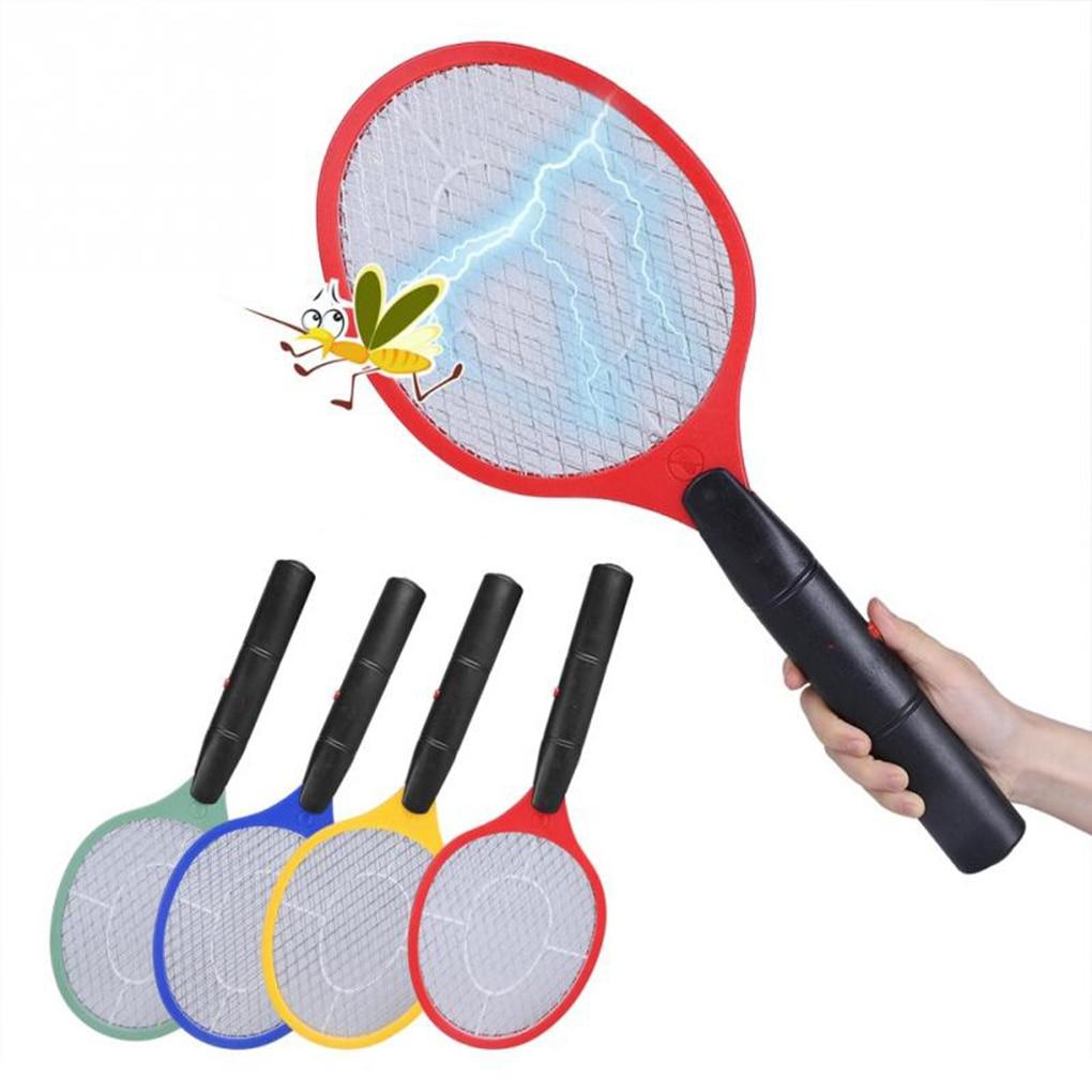 Triple redes casa matamoscas eléctrico repelente de plagas insecto Zapper raqueta inalámbrica mango largo