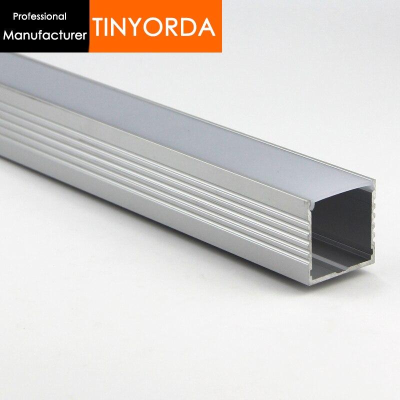 Tinyorda 100Pcs(2M Length) Led Alu Profile  Led Channel Profil for 30mm LED Strip Light [Professional Manufacturer]TAP3535