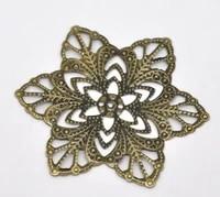doreenbeads retail antique bronze filigree flower wraps connectors 57mmsold per pack of 30