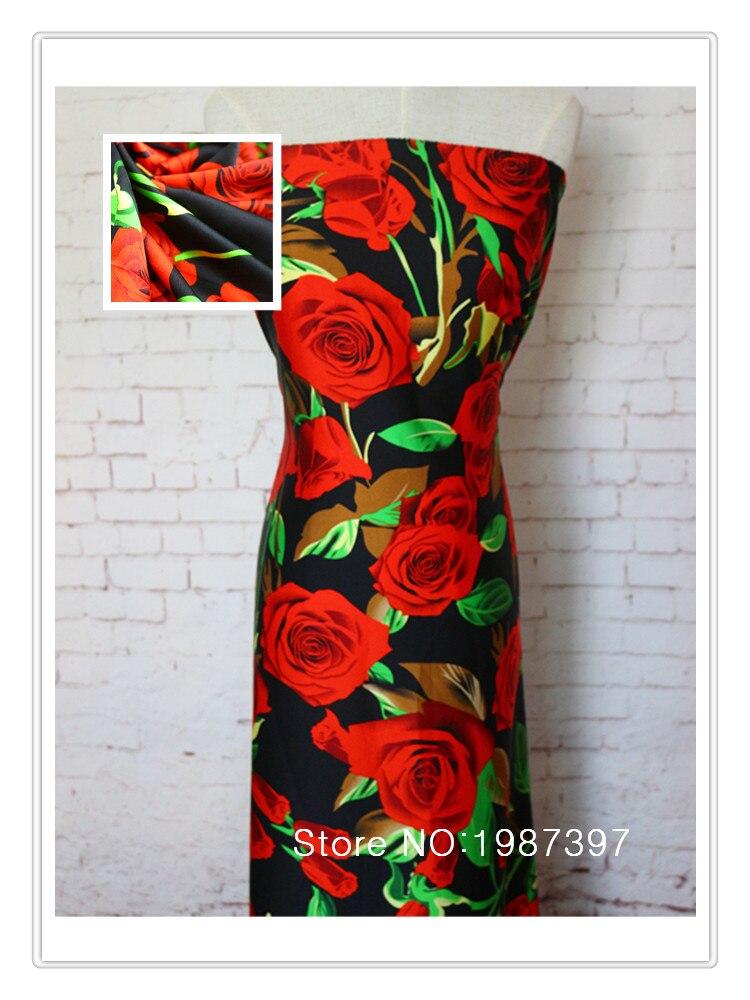 145cm Ancho de opacidad de tela de flores rosas CH2016