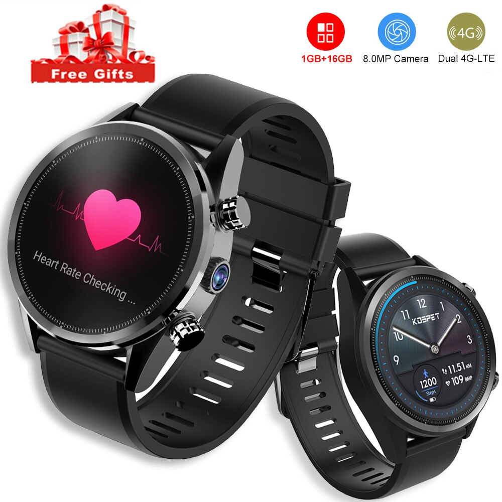 Kospet Hoffen Lite 4G LTE Handy Smart Uhr Bluetooth Gps Kamera Android 7.1 1,3 Zoll Touchscreen IP67 Wasserdichte Sport uhr