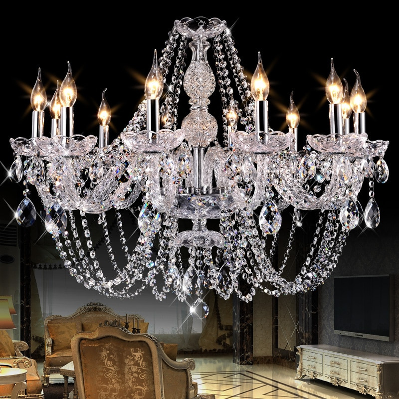 Candelabros de cristal led modernos de lujo para dormitorio, cristal K9, decoración...