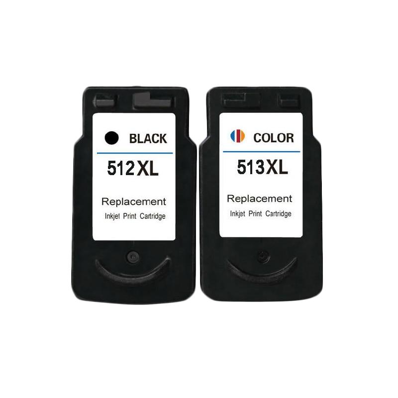 2 uds. Cartuchos de tinta compatibles para impresoras CANON pg512, cl513, Pixma, MP280, MP282, MP330, MP480, MP490, PGI 512, CL 513, PG-512