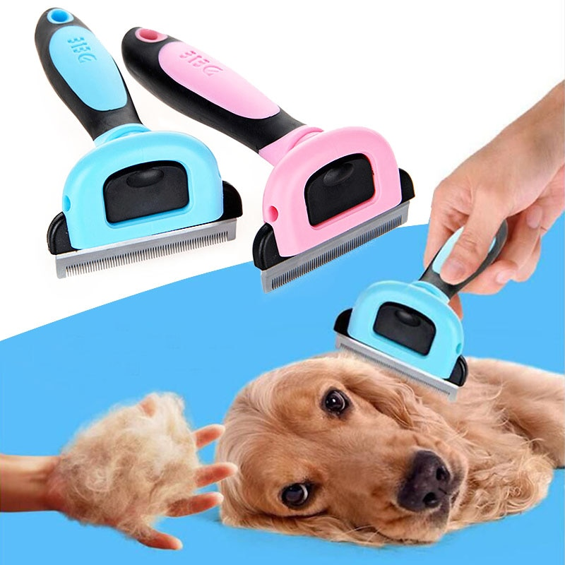 Sale 1PC New Dog/Cat Hair Comb Trimmer 3 Sizes 2 Colors Without Electricity Pet Grooming Brush Puppy