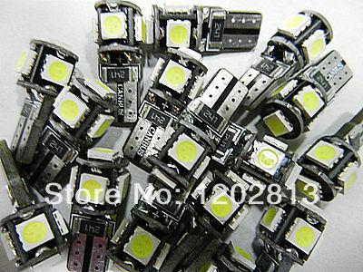 Free shipping On Sale! 10 pcs LAMPADE T10/W5W 5 LED SMD-5050 NO ERRORE ERROR CHECK LUCI POSIZIONE CANBUS