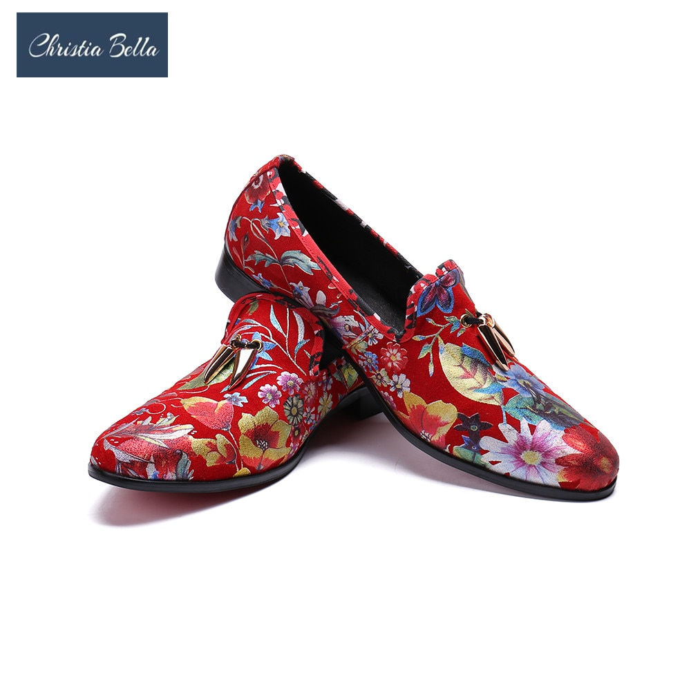 Christia Bella hommes mocassins de luxe Designer sans lacet hommes mocassins chaussures rouge marque italienne mocassins hommes Sapato mocassins chaussures