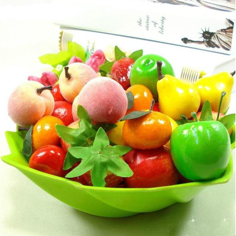30pcs/lot simulation Artificial Fruits and Vegetables foam fruits children kids toys for Childrens education toys 3.5-5cm