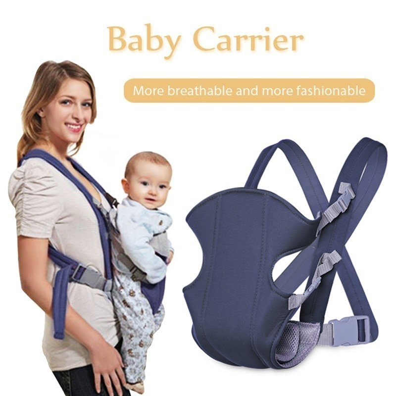 2-30 Months Breathable Front Facing Baby Carrier Comfortable Sling Backpack Pouch Wrap Baby Kangaroo Adjustable Safety Carrier