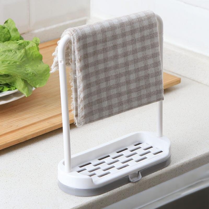 Colgador de tela para fregadero, escurridor para fregadero, soporte para jabón, platos, cubiertos, escurridor para baño y cocina 9 1 unidad