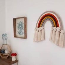 إكسسوارات ديكور منزلي قوس قزح اليدوية النسيج حلية الشمال الطازجة بسيطة طفل ديكور جدار الغرف معلقة
