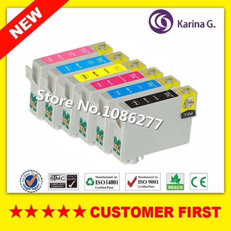 6PK Compatible para T0791 T0791-T0796 cartucho de tinta para Epson Stylus Photo 1400/1500 W P50 Artisan 1430 PX650/660/660 +/700 W