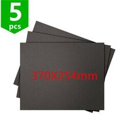 SWMAKER 5 pcs Construir Superfície de Impressão 3D etiqueta 370X254mm para TEVO Viúva Negra impressora 3D Quadrado Preto folha folha de super vara