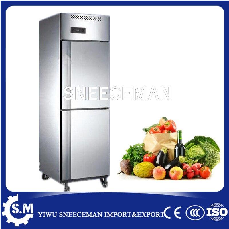 500L Novo Estilo 2 portas de aço inoxidável congelador comercial vertical