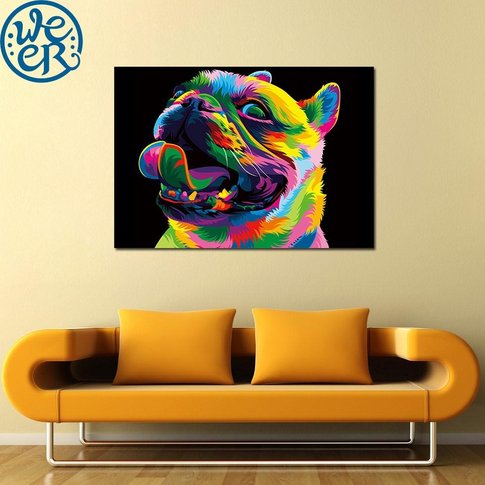 Impresión HD 1 panel Loyal Bulldog de la colección de colores de la naturaleza de Weer pintura decoración del hogar lienzo impresión arte de la pared para habitación