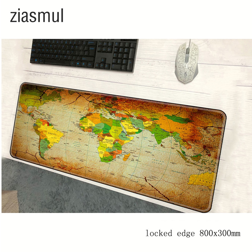world map padmouse 800x300mm pad to mouse notbook computer mousepad Mass pattern gaming mouse pad ga