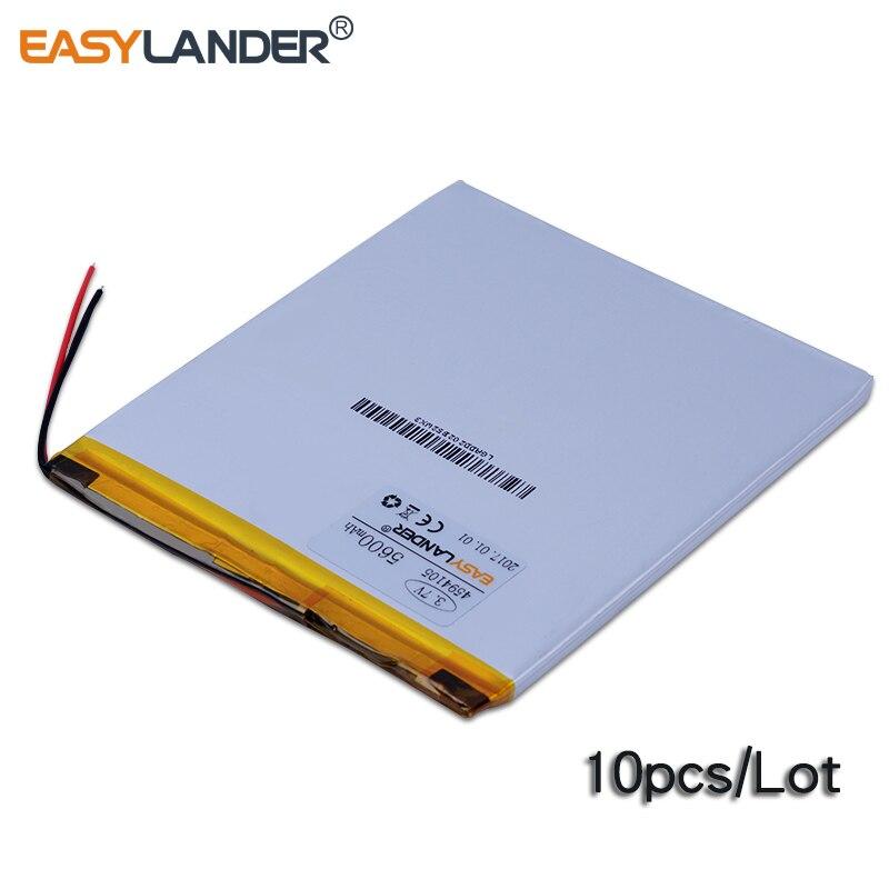 Promo 10pcs/Lot 3.7V 5600mAh 4594105 Rechargeable Li-Polymer Li-ion Battery For CHUWI V88 ONDA V972 V130 Pipo M9 Tablet PC P88 U21GT