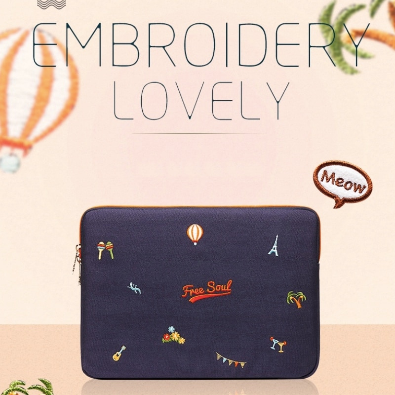 Lovely Shoulder Computer inner Bag Female for Apple lenovo Asus Acer notebook 13.3 inches 14 inches 15.6 Laptop School Bag
