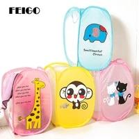 feigo 3248 5cm waterproof storage basket bag toy dirty laundry basket bag clothes toys storage box sundries fabric folding f751