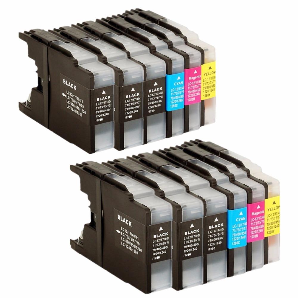 Reemplazo de cartuchos de tinta para LC1240/1220 LC 1220 1240 LC1220 LC1240 LC-1240 LC-1220 MFC-J810DWN MFC-J825DW de inyección de tinta de Prin
