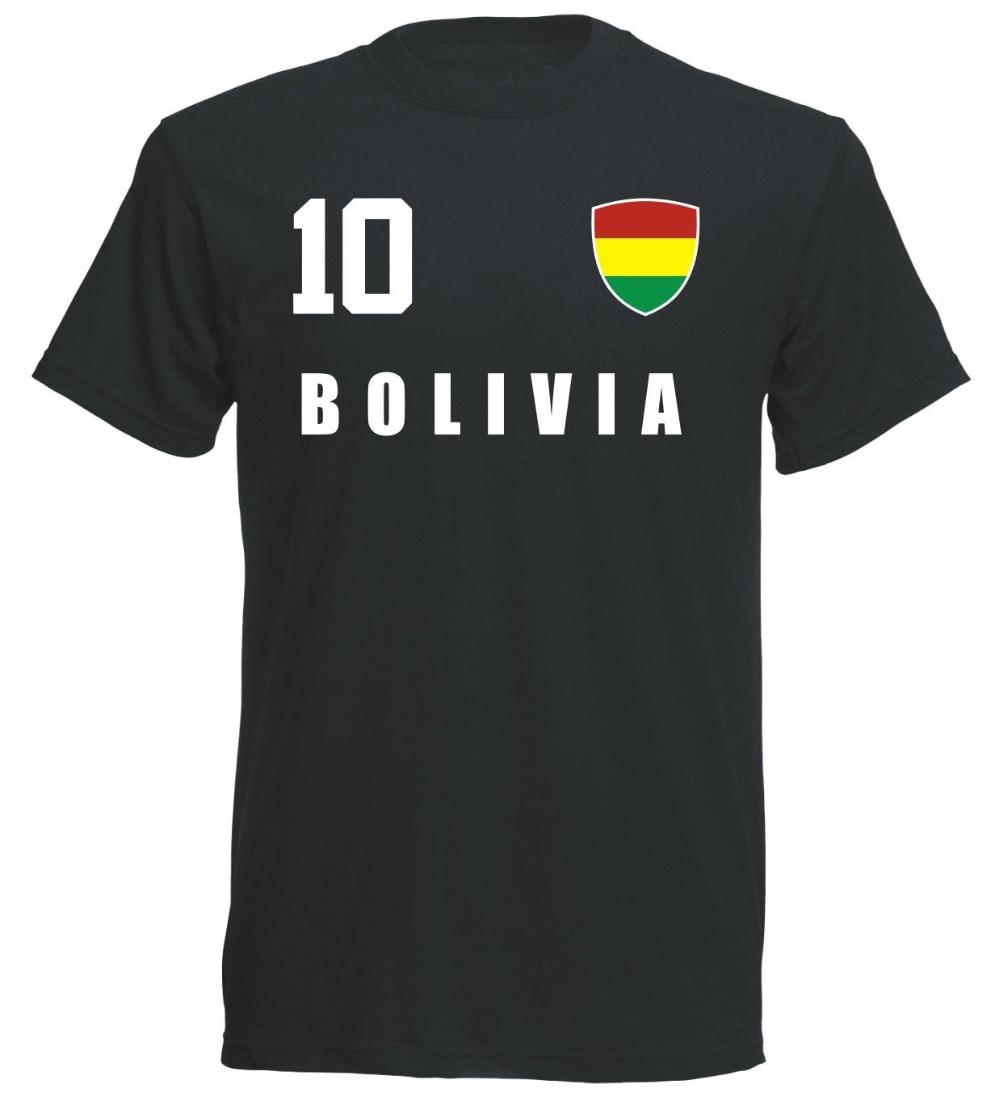 Bolivien 2019 camiseta de Trikot estilo Fubball Nummer 10 Sporter mira futbolista fútboles camiseta
