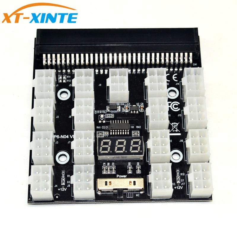 PCI-E 17x 6Pin блок питания Breakout плата адаптер конвертер 12 В для эфириума BTC Antminer Miner Mining HP сервер PSU GPU