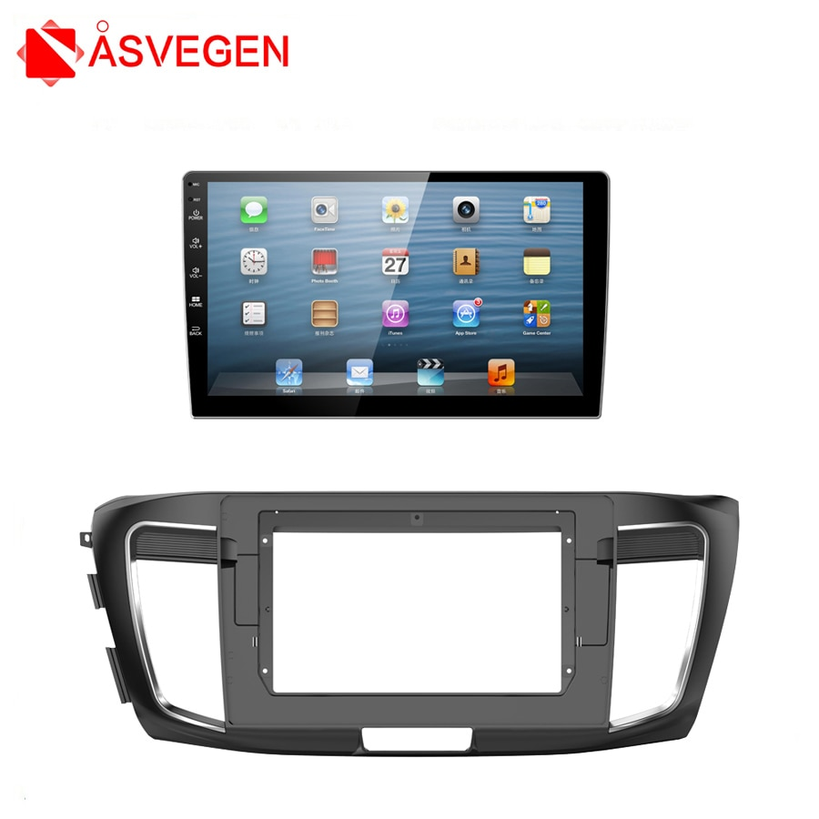 Asvegen Car Radio Fascia accesorio Kit adaptador Placa de Panel envolvente coche Radio Panel montaje marco para Honda Accord 2013- 2017