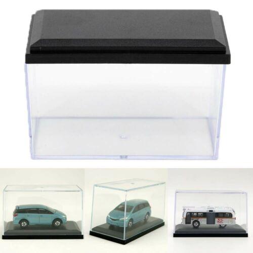 Gran oferta de acrílico claro estuche de exposición para 1 64 escala negro Base juguete en miniatura moldeado a presión Coche