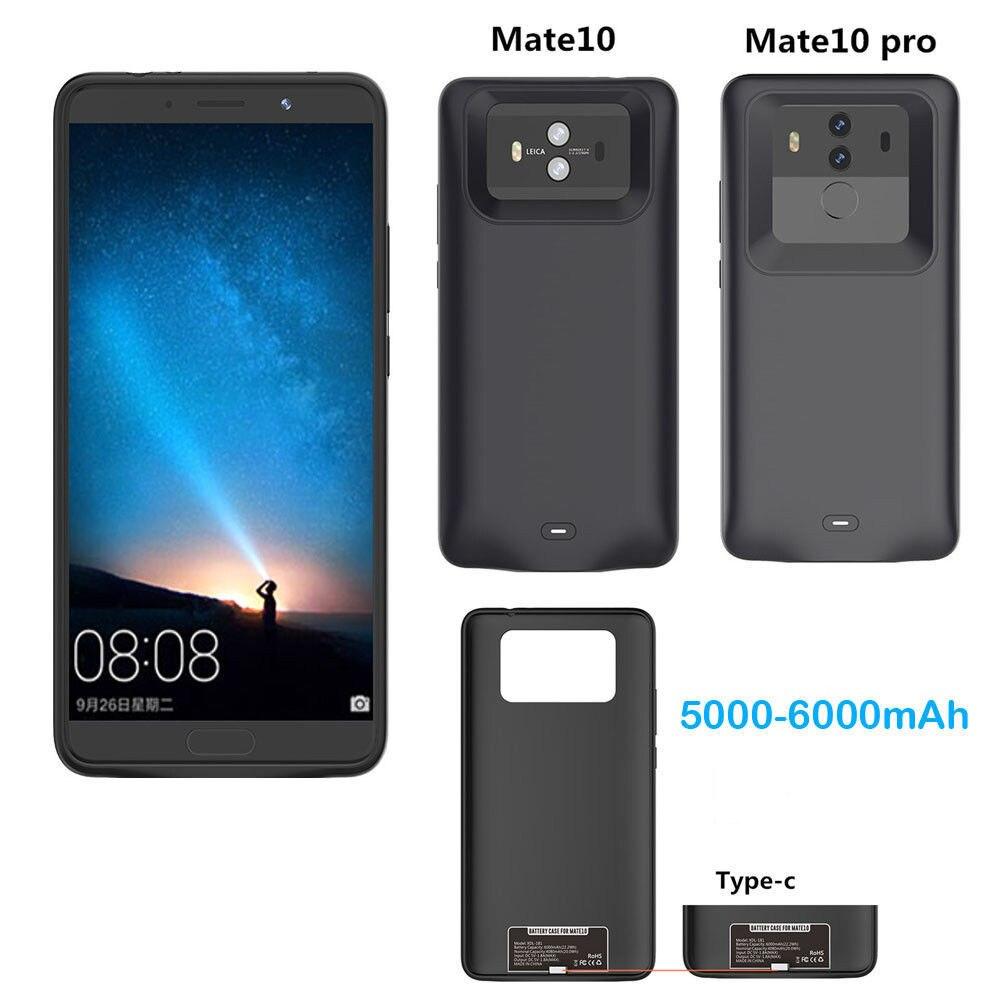 Novedad para huawei Mate 10 10 Pro, cargador tipo batería externa de 6000mah, funda protectora para cargador de batería para huawei mate10 10 pro, funda para batería